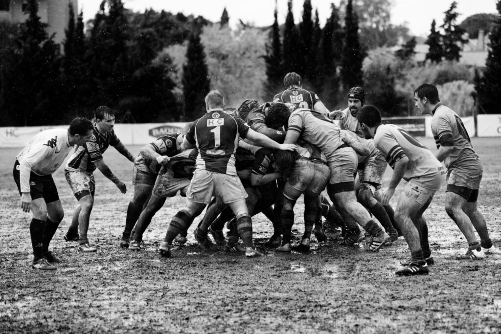 equipo rugby scrum